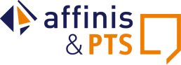Doppellogo_PTS_affinis_blau orange