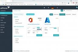 Screenshot: Produktübersicht im CSP-Portal