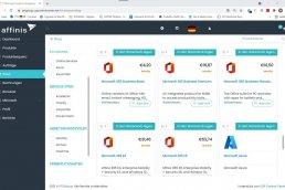 Screenshot: Shopübersicht im CSP-Portal