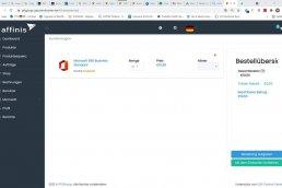 Screenshot: Warenkorb im CSP-Portal