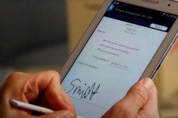 Einfach unterschreiben in smartwork mobile: Mobiles Auftragsmanagement mit affinis
